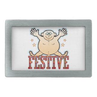Festive Fat Man Belt Buckle