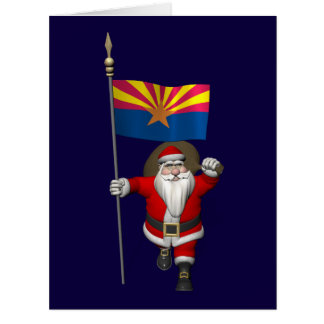Festive Father Christmas Visiting Arizona Card