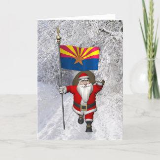 Festive Father Christmas Visiting Arizona Holiday Card