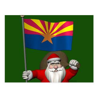 Festive Father Christmas Visiting Arizona Postcard