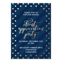 Festive Faux Foil Navy Holiday Party Invitation