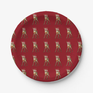 Festive Fawn Paper Plates 7 Inch Paper Plate