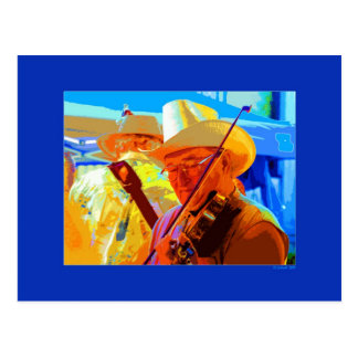 Festive Fiddler Postcard