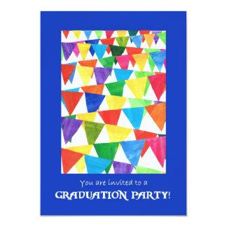 Festive Flags Graduation Party Invitation