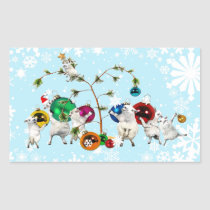 Festive Fleece Baubles up Sticker