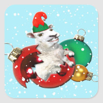 Festive Fleece Broken Bauble Sticker