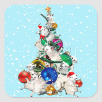Festive Fleece Tree Sticker