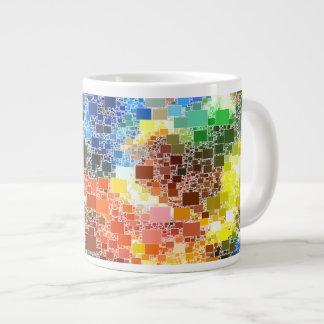 Festive Floating Block Artwork Large Coffee Mug