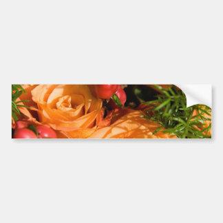 Festive Floral Arrangement Bumper Stickers
