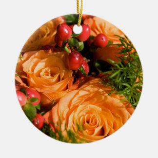 Festive Floral Arrangement Christmas Ornaments