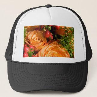 Festive Floral Arrangement Trucker Hat