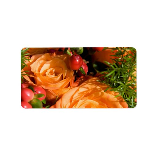 Festive Floral Personalized Address Label