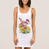 Festive Floral Sleeveless Dress