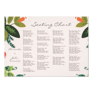 Festive Florals - Baby Pink + Olive / Apple Green 5x7 Paper Invitation Card