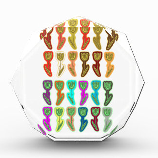 FESTIVE Flower Pattern : HAPPY HOLIDAYS Acrylic Award