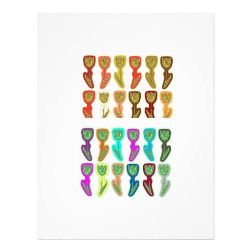 FESTIVE Flower Pattern : HAPPY HOLIDAYS Letterhead Design