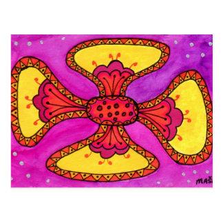 Festive Flower Postcard