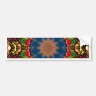 Festive Flowers Nature, Flower Mandala Bumper Sticker