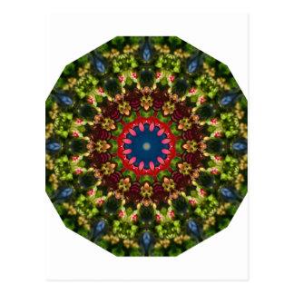 Festive Flowers Nature, Flower Mandala Postcard