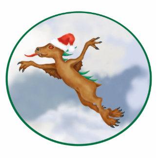 Festive Flying Chupacabra Ornament