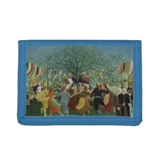 Festive Folk Art Tri-fold Wallet