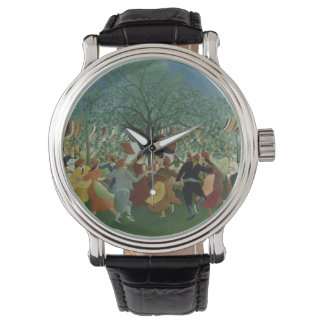 Festive Folk Art Wristwatch