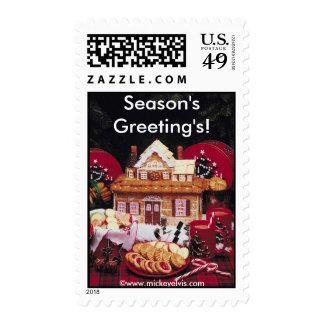 Festive Food  Season's Greeting's! Postage Stamp