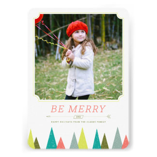 Festive Forest Holiday Photo Cards Personalized Invite