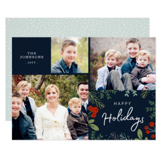 Festive Frame Holiday Multi Photo Card