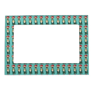 Festive French Bulldog Magnet Frame