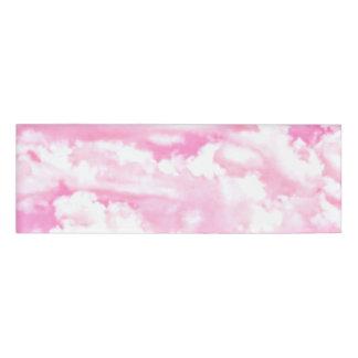 Festive Fuchsia Pink Clouds Decor Name Tag