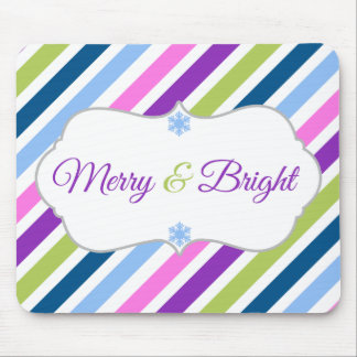Festive Fun Merry and Bright Holiday Mousepad