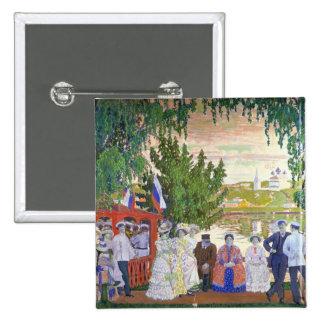 Festive Gathering, 1910 Pin