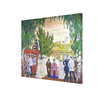 Festive Gathering, 1910 Canvas Print