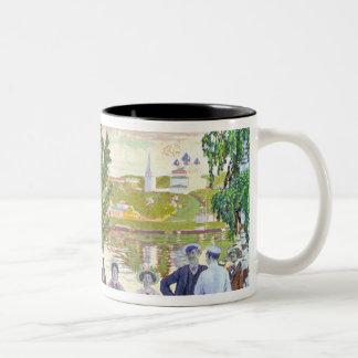 Festive Gathering, 1910 Two-Tone Coffee Mug