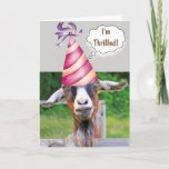 Festive Goat Birthday Card