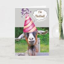 Festive Goat Birthday Card