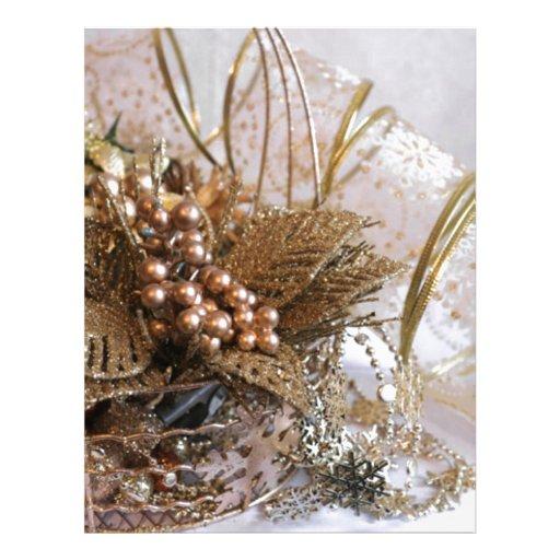 Festive Gold Christmas Personalized Letterhead