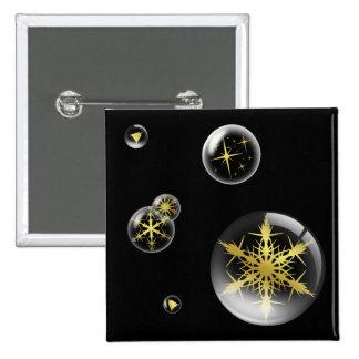 Festive Gold Christmas  Ornament Button