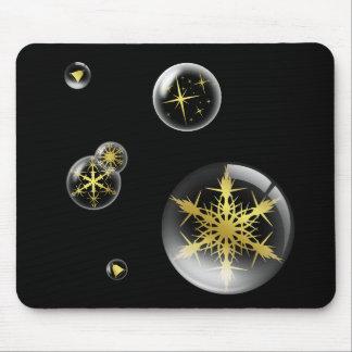 Festive Gold Christmas Ornament Mousemat Mouse Pad
