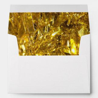 Festive Gold Foil Envelope
