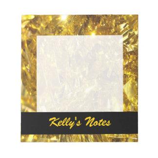 Festive Gold Foil Note Pad