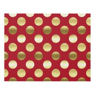 Festive Gold Foil Polka Dots Red Panel Wall Art