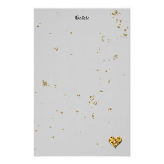 Festive Golden Cookie Stationery