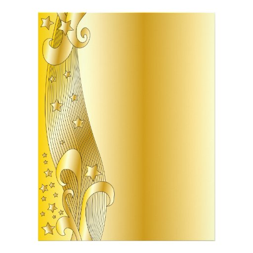 Festive golden design letterhead