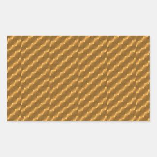 Festive, golden pattern rectangular sticker