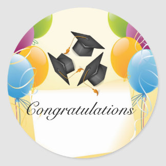 Festive Graduation Balloon Sticker