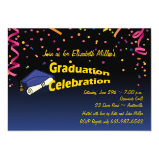 Festive Graduation Invitation