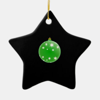 Festive Green Christmas Ball Ornament