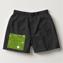 Festive Green Holiday Snowflakes Boxers
